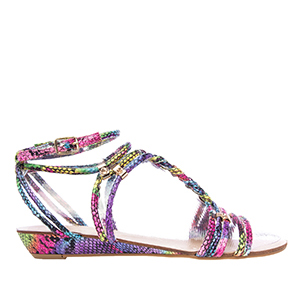 Sandalias Serpiente Multi