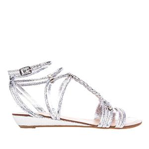 Sandale sa dosta kaiševa, srebrne
