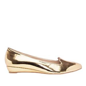 Baletanke u špic, soft zlatne