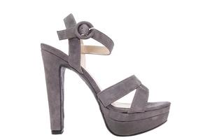 Antilop sandale na visoku štiklu, sive