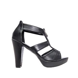 Sandale na štiklu, soft crne