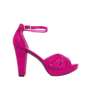 Antilop sandale na štiklu, pink