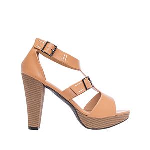 Sandale sa dva kopčanja, soft kamel