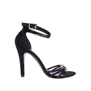 Elegantne sandale, antilop crne