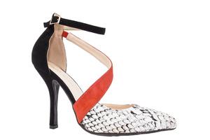 Sandały z bransoletką Wąż Czarne