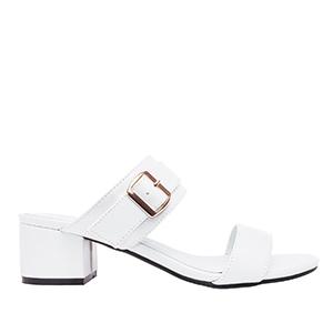 Papuče sa debljom petom, soft bele
