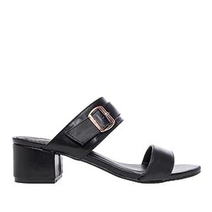 Papuče sa debljom petom, soft crne