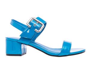 Papuče sa debljom petom, lakovane plave