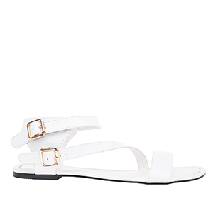 Sandale rimljanke, soft bele