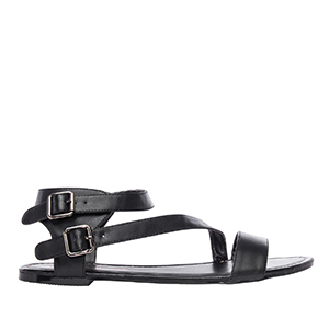 Sandale rimljanke, soft crne