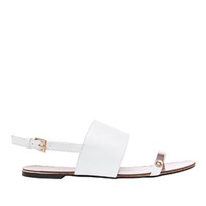 Sandale sa širokom trakom, soft bele
