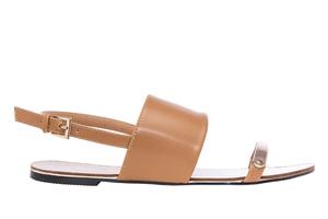Sandale sa širokom trakom, soft braon