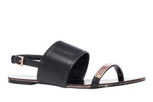 【大】サンダル フラット ソフト ブラック 大きいサイズ