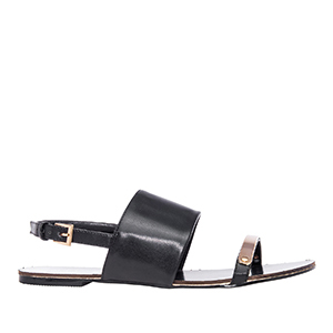 Sandale sa širokom trakom, soft crne