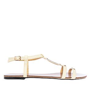 Ravne sandale, soft žute