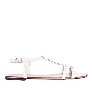 Ravne sandale, soft bele
