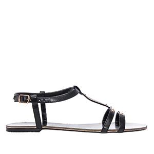 Ravne sandale, soft crne