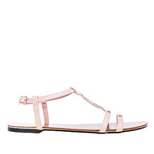 Ravne sandale, soft svetlo roze