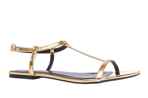 Sandalia T- bar Soft Oro