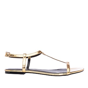 Ravne sandale, soft zlatne