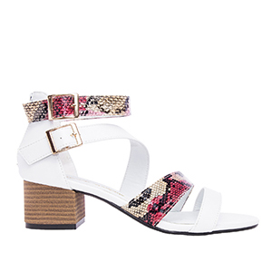 Sandalias Soft Blanco Tacon Ancho