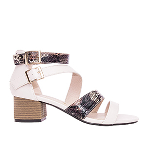 Sandale sa debljom petom, soft roze
