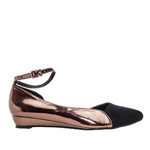 Dvobojne špic baletanke, bronzano-crne