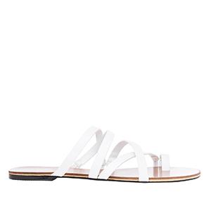 Sandale sa ukrštenim kaiševima, bele