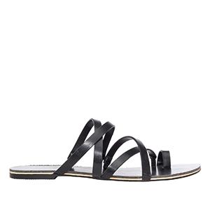Sandale sa ukrštenim kaiševima, crne