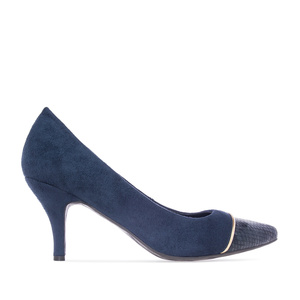 Pumps in Deep Blue faux Suede