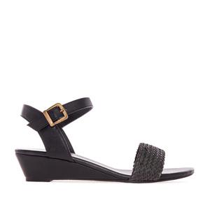 Sandalias Cuña Soft de color Negro.