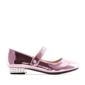 Mary Janes for little girls in Pink Patent