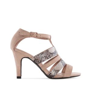Sandalia de ante de color Beige