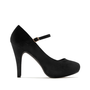 Mary Jane Stilettos in Black Suede