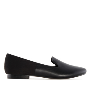 Slipper Cut Flats Black Combi