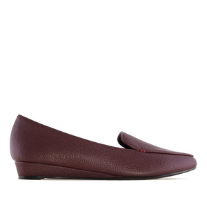 Slippers compensés en Soft Bordeaux