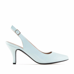 Sky Blue faux Leather Slingback Shoes