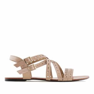 Páskové sandále romanas béžové.