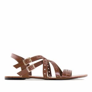 Páskové sandále romanas hnědé.