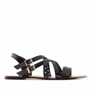 Páskové sandále romanas černé.