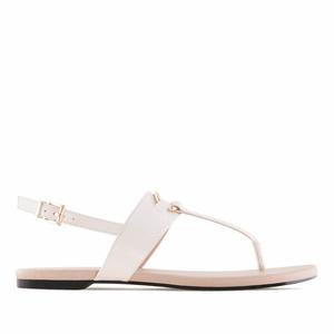 Sandále T-bar béžová ivory barva.