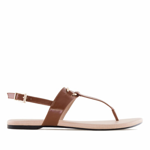 Sandalias T-Bar en Soft Marron