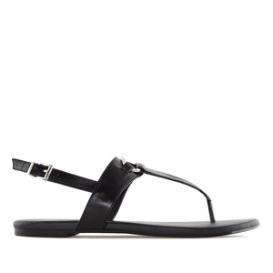 T-Bar-Sandalen in Soft-Schwarz