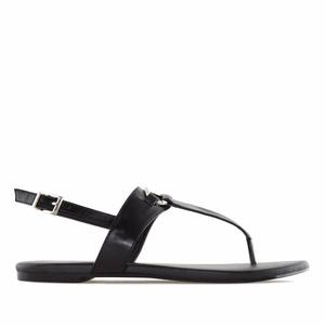 Ravne sandale, crne