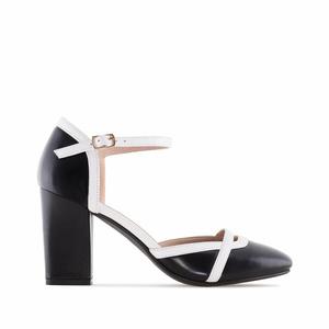 Zatvorene kombinovane sandale, crne