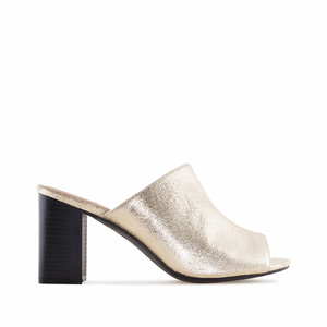 Mules in Gold-Metallik