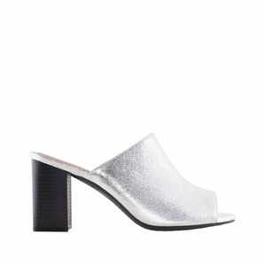 Mules in Silber-Metallik