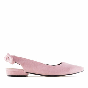 Nude Suede Slingback Ballet Flats