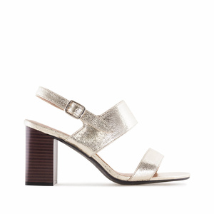 Metallic Gold faux Leather Sandals
