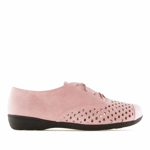 Blucher en suèdine Rose